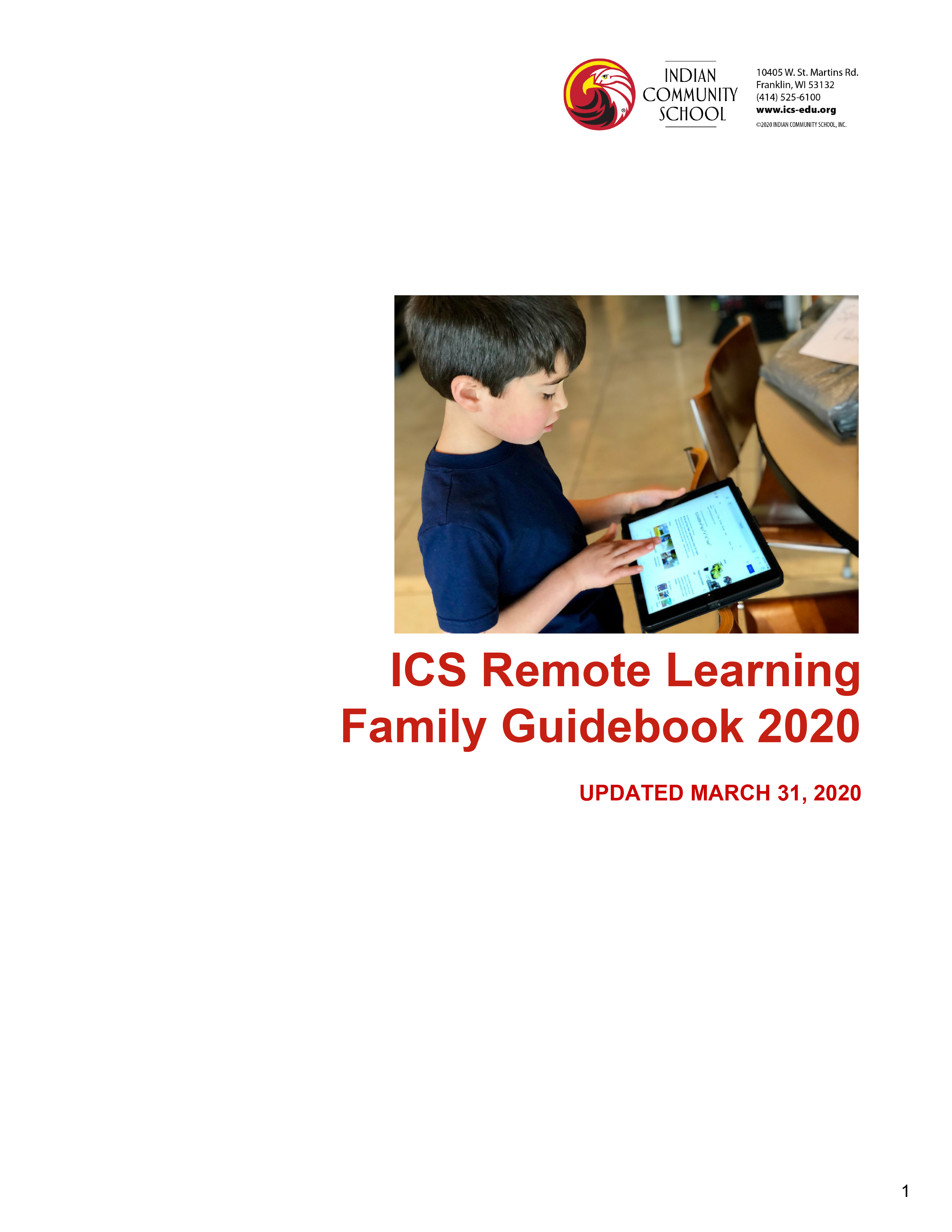 ICS Remote Learning Guidebook 4.2.20
